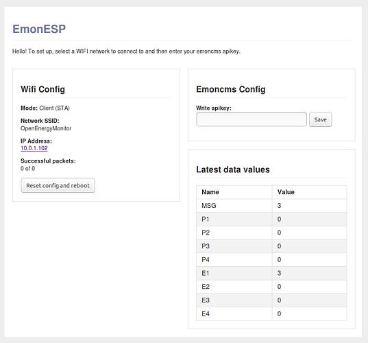 Using the EmonTx v3 with the ESP8266 Huzzah WIFI module