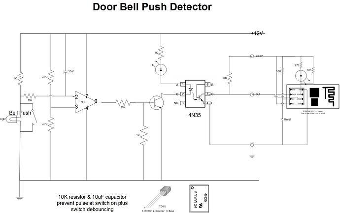 Door Bell Push Detector
