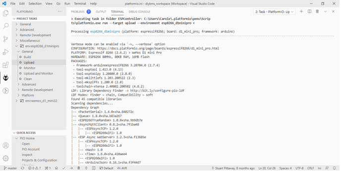 Screen shot VSCODE