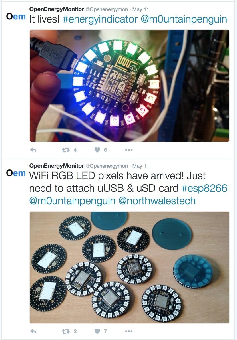 WiFi MQTT NeoPixel LED indicator display - Display - Community