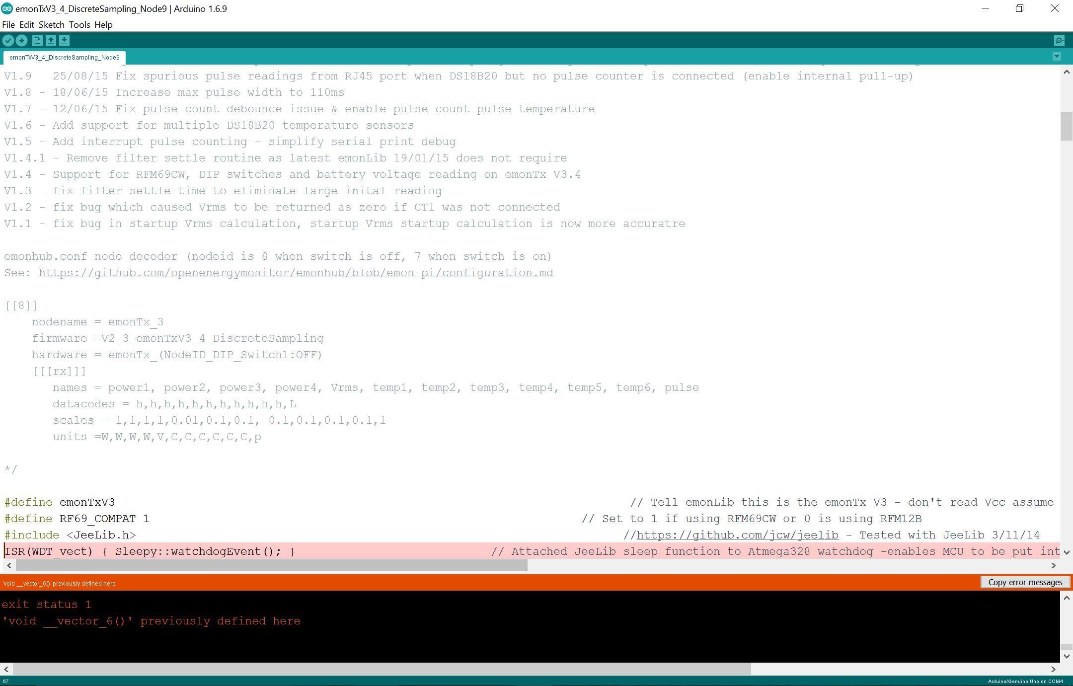 Arduino Genuino Uno In File Included From: Elechouse fm