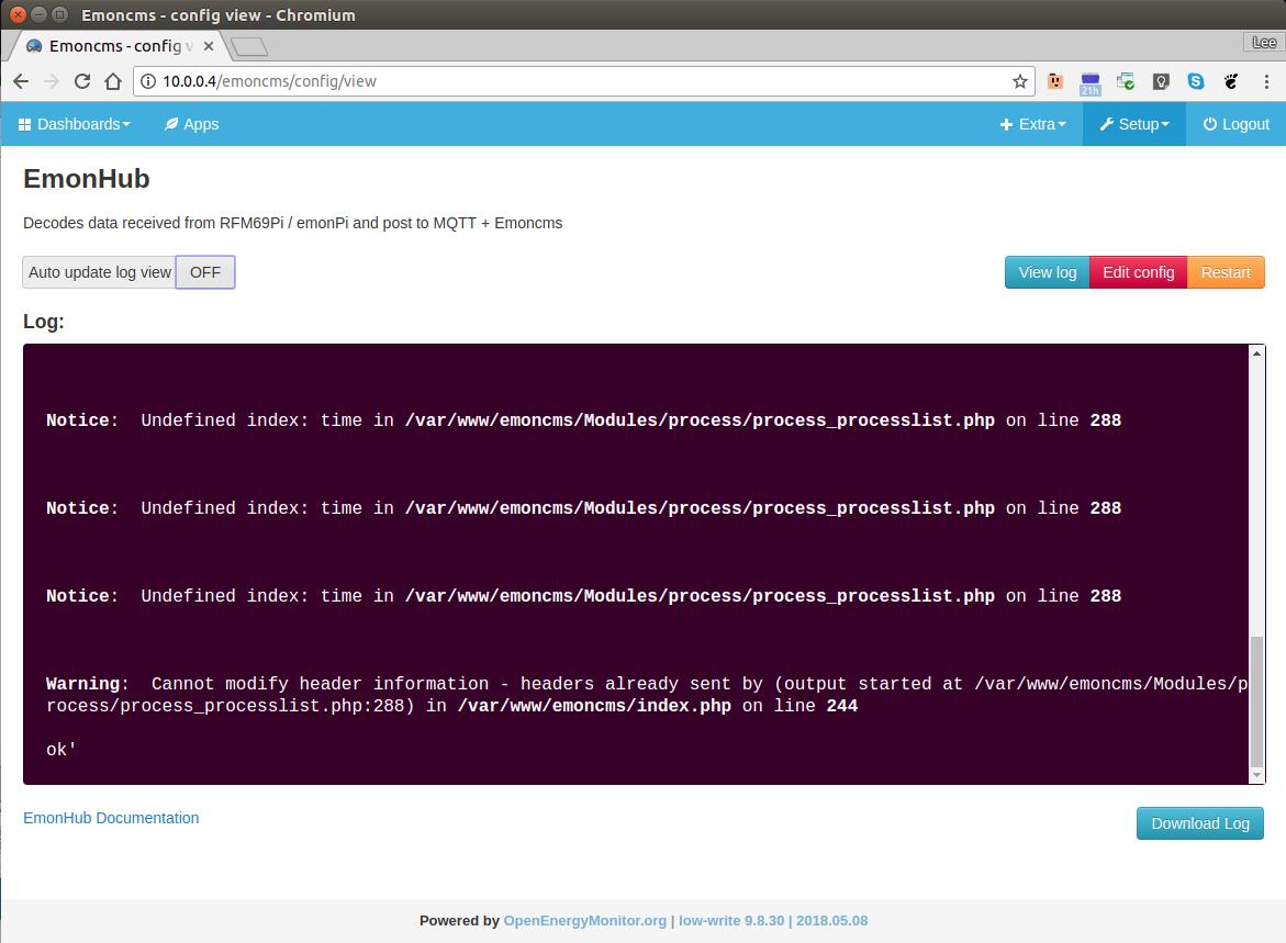 Problem setting up EmonCMS Sync - PHP errors - Emoncms