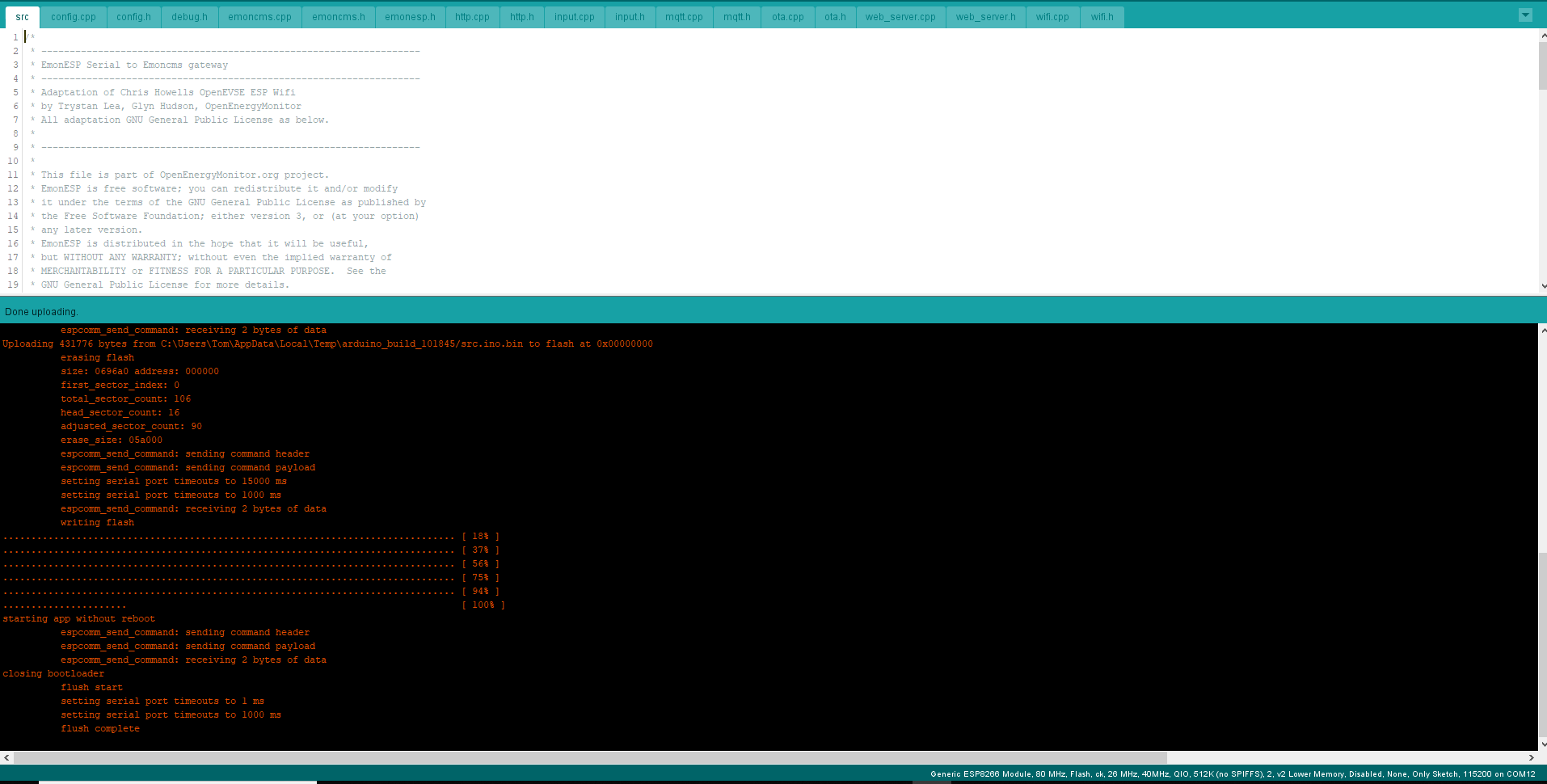 Bootloader mode for esp8266 (Heatpump monitor board