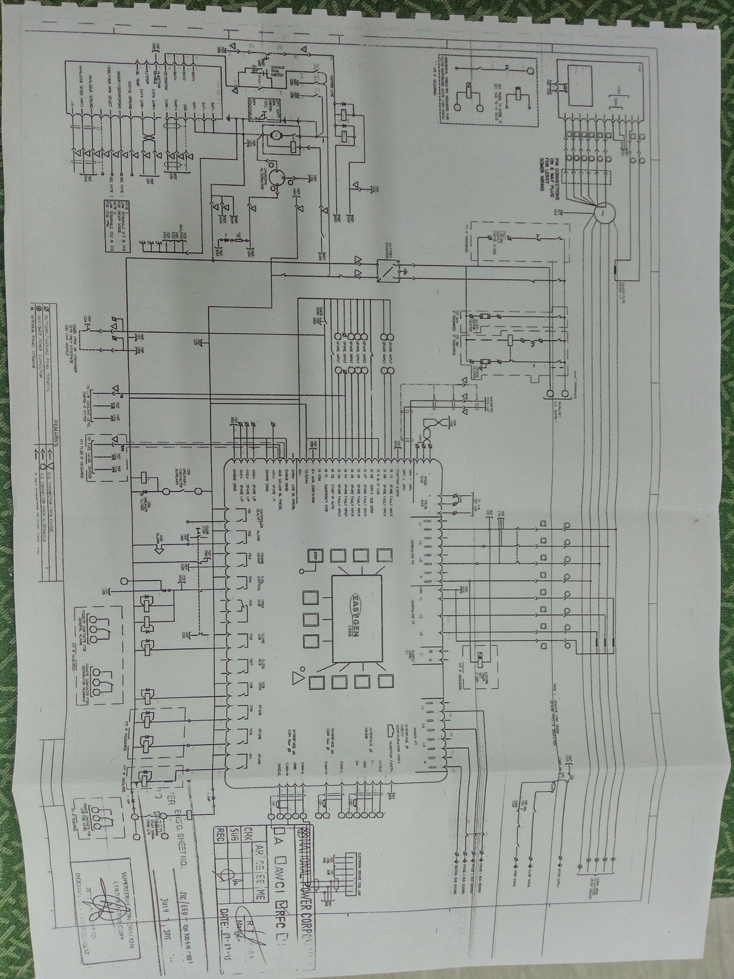 Fg Wilson Control Panel Wiring Diagram
