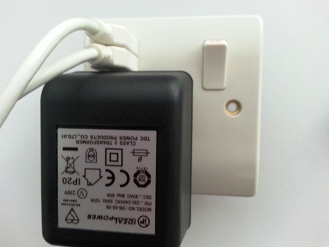 Socket with twin USB ports